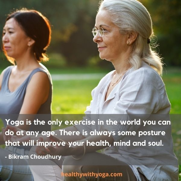 Yoga quote about age