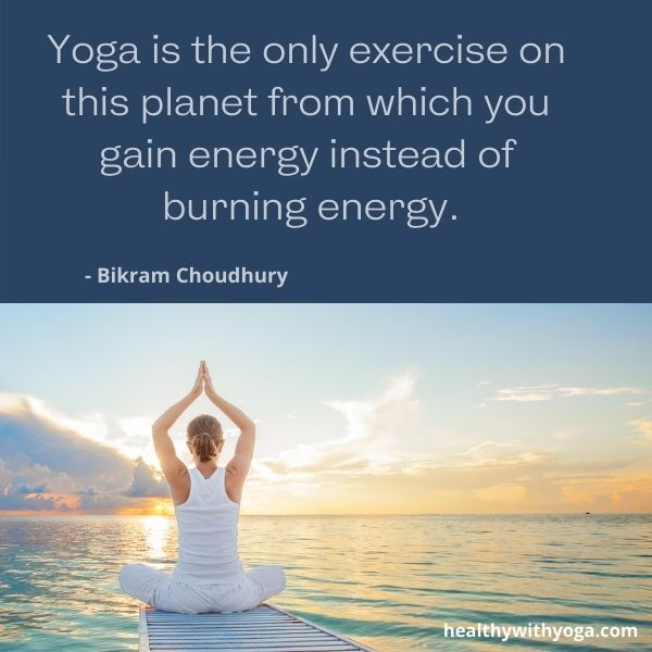 Yoga quotes about energy