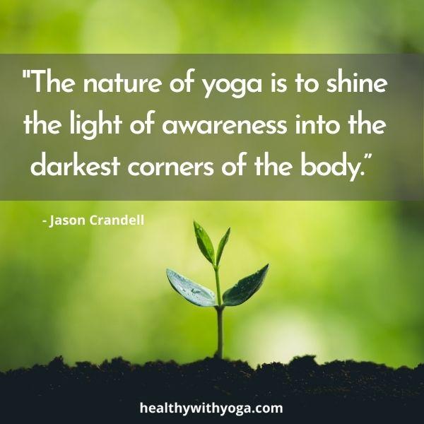 Yoga shining the light