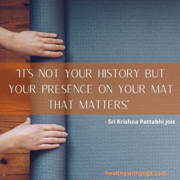 Yoga quote mat