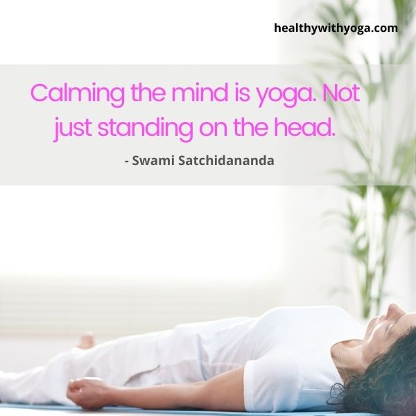 Inspiration to calm your mind with Yoga
